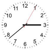 Clock vector icon — Stok Vektör