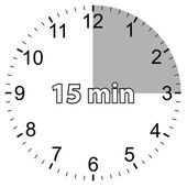 Fifteen minutes — Stock Vector
