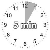Five minutes — Vector de stock