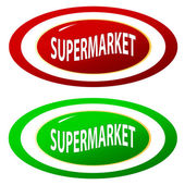 Supermarket icons set — Stock Vector