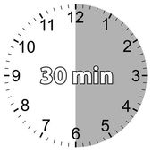 Thirty minutes — Vector de stock