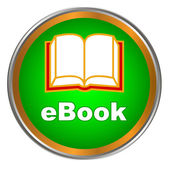 Green ebook icon — Stockvektor