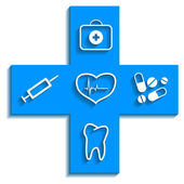 Medicine blue icon — Stock Vector
