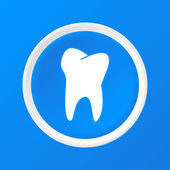 Tooth 3D Paper Icon — Stock Vector