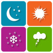 Weather icons — Stock Vector #35429997