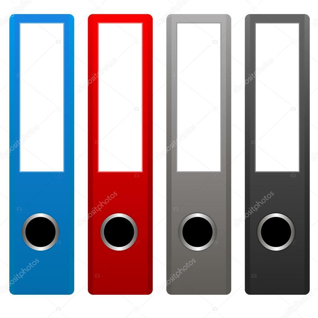 Office Folders — Stock Vector © ylivdesign #35429983