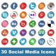 Social media icons — Stock Vector #35676363