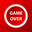 Game over icon — Stock Vector