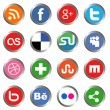 Stock Vector: social media icons