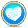 Grunge heart icon — Stock Vector
