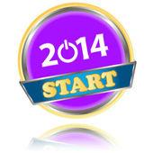 New Year 2014 icon — Stockvector