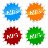 Mp3 icons set — Stock Vector