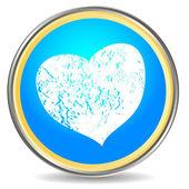 Grunge kalp simgesi — Stok Vektör