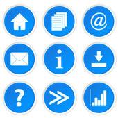 New blue web set — Stock Vector