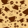 Seamless pattern coffee cups — Stock Vector