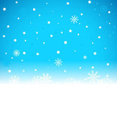 Vánoční modré pozadí s sněhové vločky — Stock vektor