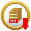 Vector pdf download button — Stock Vector