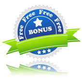 Bonus symbol — Stock Vector