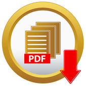 Vector pdf downloadknop — Stockvector