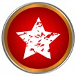 Red star icon — Stock Vector