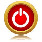 ícone de energia vermelho — Vetor de Stock