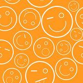 Smile seamless pattern — Stock Vector