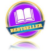 Purple bestseller icon — Stock Vector