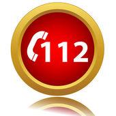 112 kırmızı simge — Stok Vektör