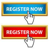 Registreer nu instellen — Stockvector