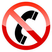 No phone vector sign — Stock Vector