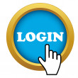 Vector login time icon — Stock Vector