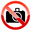 No photography sign — Stock Vector #37840911