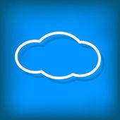 White cloud — Stock Vector