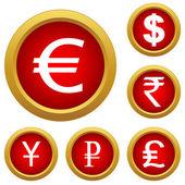 Money set buttons — Vecteur