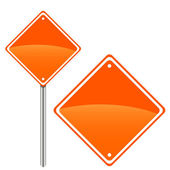 New road sign — Stock Vector