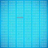 Blue binary computer code — Stock Vector