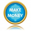 Make money button — Stock Vector