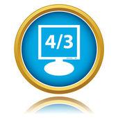 Screen resolution icon — Stock Vector