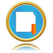 Vector knop downloaden — Stockvector
