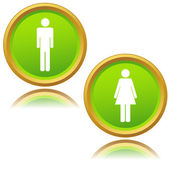 Men and women icons — Stock Vector