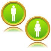 男子和妇女的图标 — 图库矢量图片