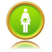 Pregnant woman icon — Stok Vektör
