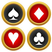 Playing card's icons vector — Stock Vector