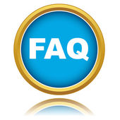 Blue faq vector icon — Stock Vector