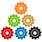 Set of gears — Stock Vector #47095413