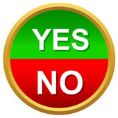 Yes or No icons vector — Stok Vektör