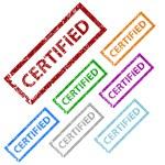 Grunge certified stamp set — Stock Vector #50196099