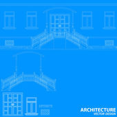 Blue architecture background — Stock Vector