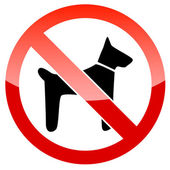 No dogs sign vector — Stock Vector