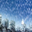Stock Photo: Rainy night in Manhattan